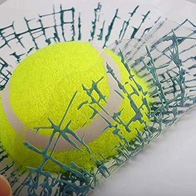 3D Broken Glass Car Stickers,Prank Tricky Creative Glass Window Stickers,3D-Simulation Window Sticker,Tennis,Baseball,Football,Golf and Baseball in Broken Glass Sticker: Kitchen & Dining