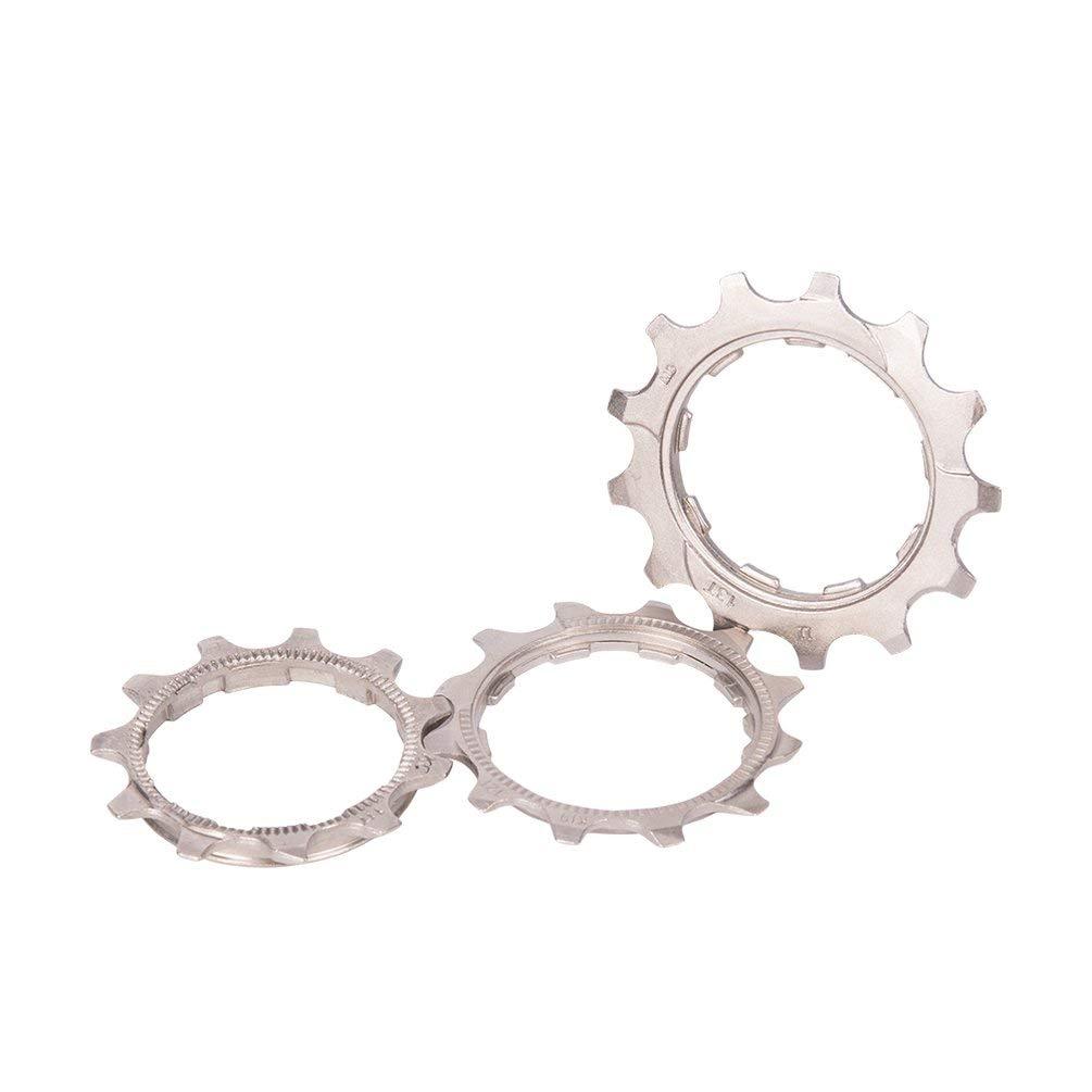 Queenaal ZTT0 8//9//10//11 Speed 11//12 13T Piezas de Rueda Libre para Bicicleta Pi/ñones de Cassette de Bicicleta Plateado