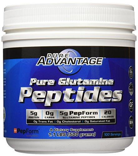 Pure Advantage Glutamine Peptides, 1.1 Pound