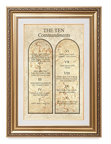 DecorArts - THE TEN COMMANDMENTS. Giclee Print wall art for Home Decor and Wall Decor. Framed size: 36x26'' by DECORARTS