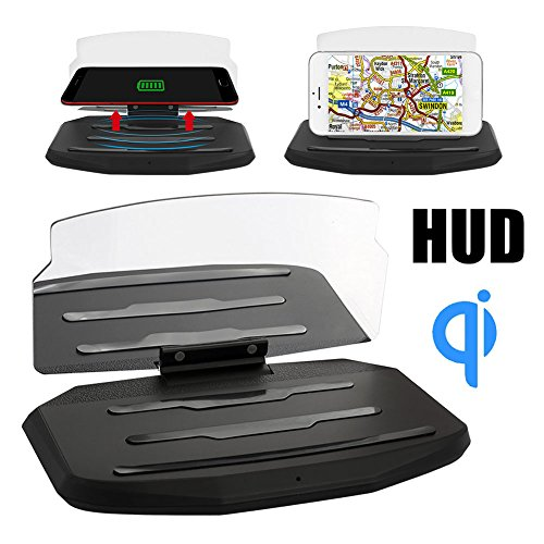 Sedeta Car HUD Head Up Display Windscreen Projector Phone Holder Mobile Navigation Bracket Compatible with All Smart Phones