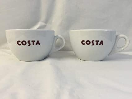 2 Pack Costa Coffee Small Primo Mugs Brand New