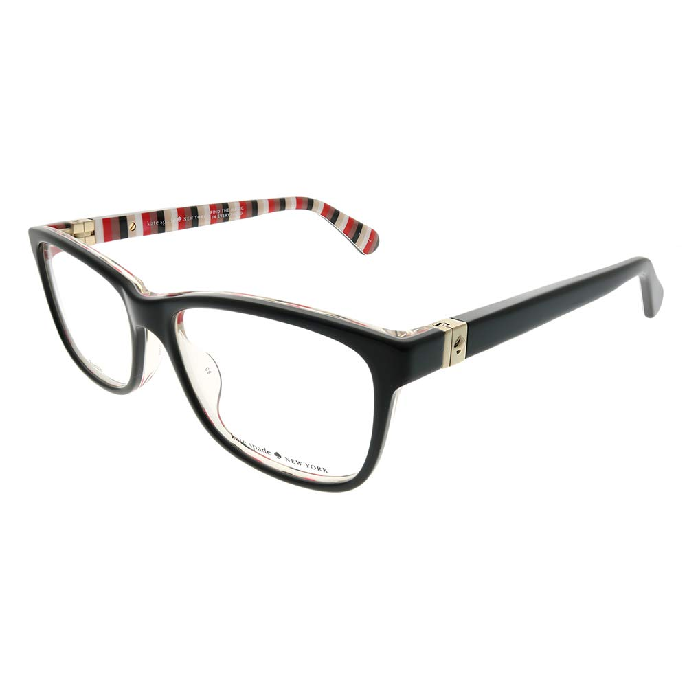 Kate Spade Calley 807 Black Plastic Rectangle Eyeglasses 52mm KS Calley HT8 52mm