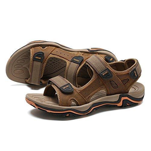 Casuales Hombres Zapatos Para Lightbrown Sandalias Playa De FrccRtI
