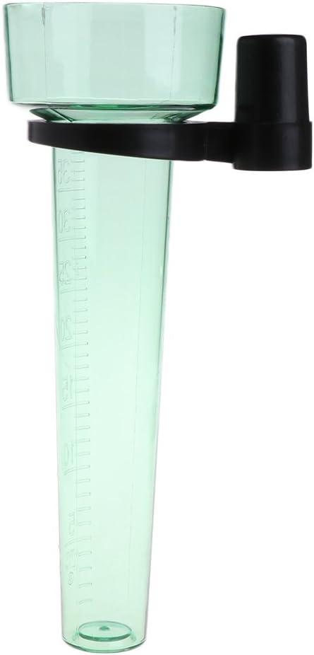 Gwxvece Pluviom/ètre en polystyr/ène jusqu/à 35 mm Outil de Mesure pour Jardin Pluviom/ètre au Sol Transparent Vert Clair