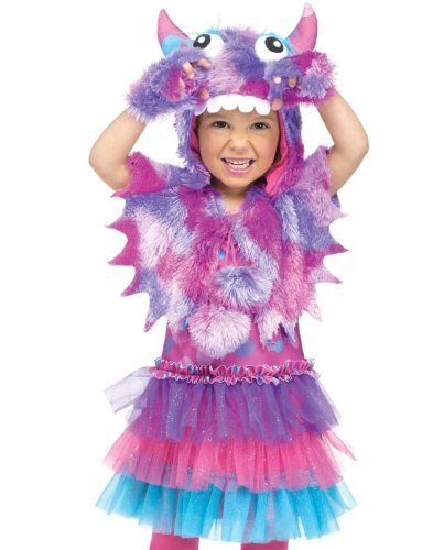 Fun World Costumes Baby Girl's Polka Dot Monster Toddler Costume, Pink/Blue, -