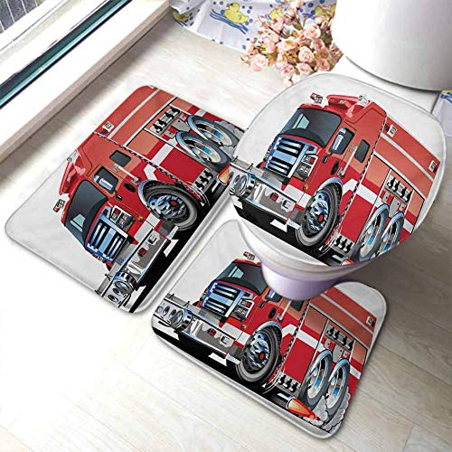Fire Truck Hooked Rug - 4