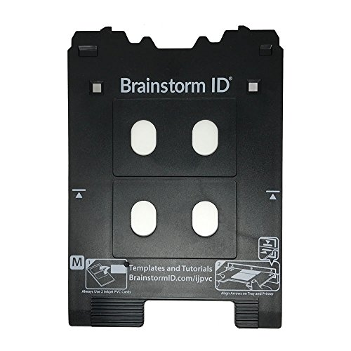 Inkjet PVC Card Tray for Canon PIXMA TS8000 and TS9000 Series Printers (Canon M Tray Printers) by Brainstorm -