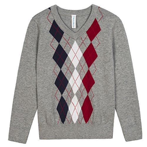 (Benito & Benita Boys' Pullover Sweater Uniforms With Argyle Patterns 3-12Y)