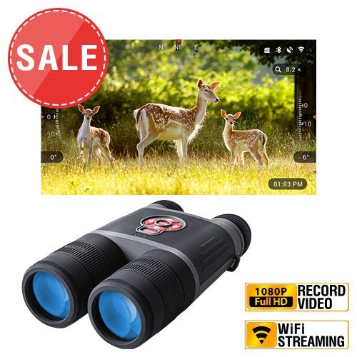 theOpticGuru ATN BinoXS-HD 4X Smart Day/Night Binoculars with Full HD Video rec, WiFi, GPS, Smooth Zoom and Smartphone Controlling Thru iOS or Android Apps