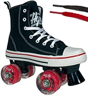 Hype Roller Skates for Girls and Boys MVP Kids Unisex Quad Roller Skates with High Top