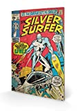Pyramid International SW11171P Silver Surfer Must Live Wall Sign - Picture on Spruce Wood by Pyramid International
