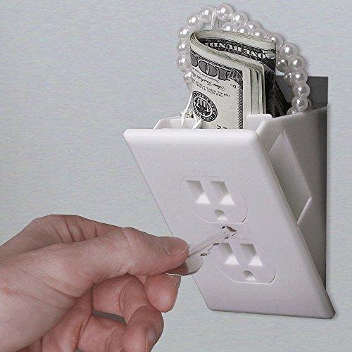 Hidden Wall Safe Security Electrical Outlet Keys Vault Secret Hide Valuables