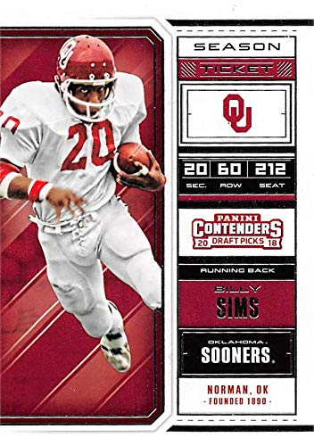 new concept c3bf7 8fbd2 Billy Sims football card (Oklahoma Sooners) 2018 Panini ...