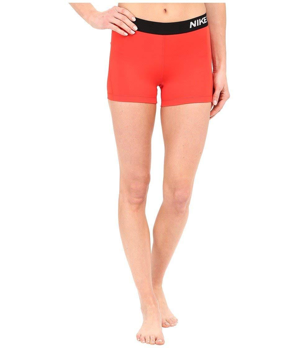 Nike Women's Pro Cool 3-Inch Training Shorts (Light Crimson/White/X-Large) by Nike