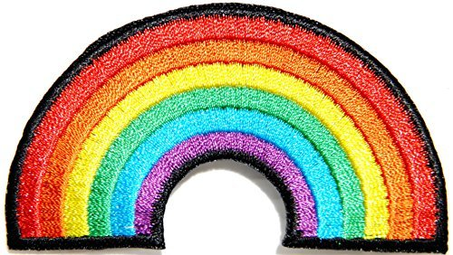 Rainbow Rainy Sunshine Jacket T shirt Patch Sew Iron on Embroidered Applique Badge Custom Gift