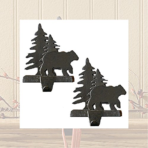 Bear and Tree Stocking Hanger - Set of 2 ()