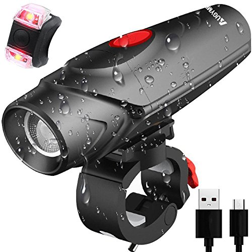 AUGYMER Bike Light, 12 Hours Lighting LED USB Rechargeable B