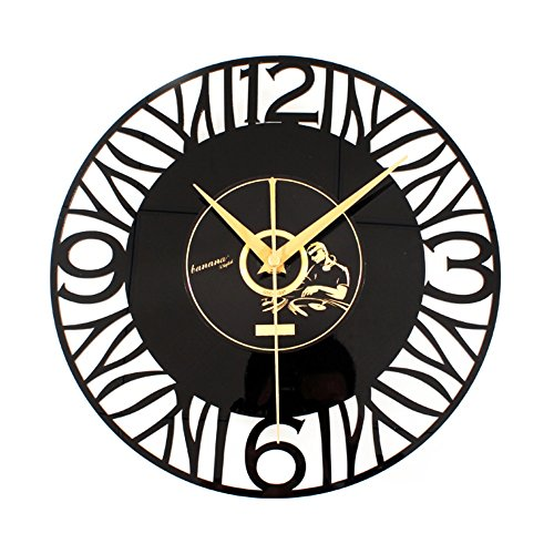 Wall Clock Retro wall clocks vinyl record - Bedroom decorati