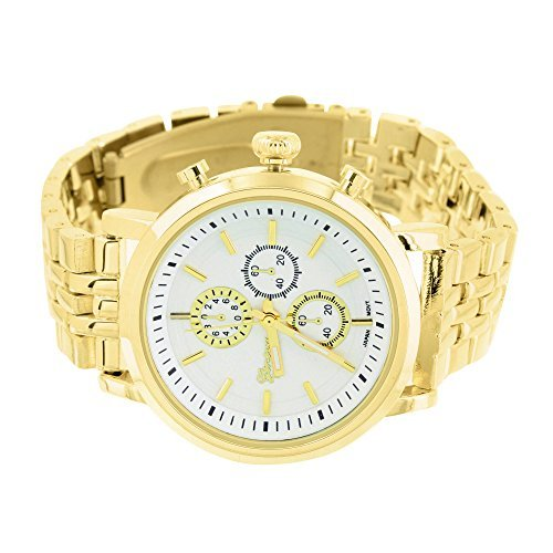 Mens 14k Gold Geneve Watch - 5
