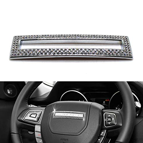 YaaGoo Bling Crystal Sitff Decoration of Steering Wheel for Range Rover Discovery Land Rover Emblem Sticker