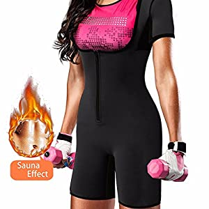 QUAFORT Full Body Shapewear Sauna Suit Neoprene Weight Loss Gym Shaper with Sleeve