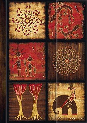 Premium Address Book Big African Art - Mosaik III: Adressbuch mit hochwertiger Folienveredelung