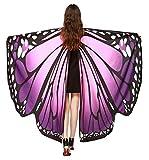 FEOYA Halloween Shawl Cape Monarch Butterfly Pattern Wings Outfit Costume for Women Girls