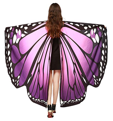 - Halloween Shawl Cape Monarch Butterfly Pattern Wings Outfit Costume for Women Girls