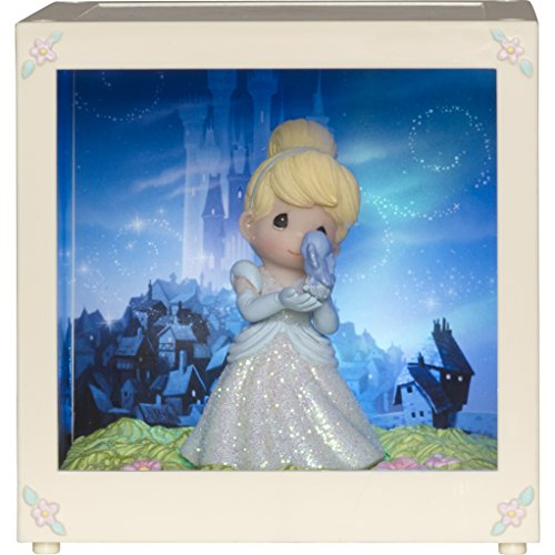 (Precious Moments Cinderella, Resin/Vinyl LED Shadow Box, 164111 Disney Showcase Collection, Multicolor)