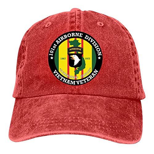 (Tom Sapira 101st Airborne Division Vietnam Insignia Baseball Cap Unisex Cowboy Denim Hat Dad/Trucker/Fishing Peaked Cap)