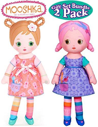 "Mooshka ""Sing Around the Rosie"" Lera & Niva Dolls Gift Set Bundle - 2 Pack"