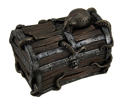 Veronese Resin Decorative Boxes Octopus Escape Decorative Deep Sea Treasure Chest Trinket Box 5 X 4 X 3 Inches -