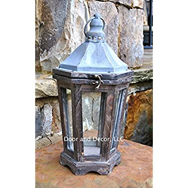 Petite street lantern, rustic lantern, wedding lantern, farmhouse decor, lanterns, wooden lantern