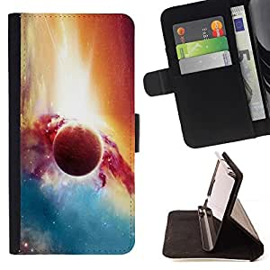 Momo Phone Case / Flip Funda de Cuero Case Cover - Planet Galaxy;;;;;;;; - Apple Iphone 6 PLUS 5.5