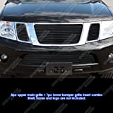 APS Compatible with 2008-2012 Ford Escape Black Billet Grille Grill Insert S18-H48756F