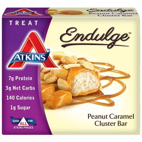 UPC 637480070522, Atkins Endulge Pieces, Peanut Caramel Cluster Bar, 5 Ounce