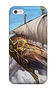 Hot premium Phone Case For Iphone 5/5s/ Ship Art Background Tpu Case Cover 7529284K65323917