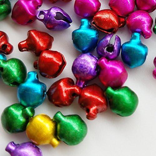 Chenkou Craft 100pcs Mix Christmas Jingle Bell Loose Beads Charms Jewelry Marking 6//8//10//12mm 10mm