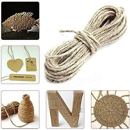 Josep H 50/m DIY artisanal du c/âble de cordon de ficelle de chanvre 50M beige