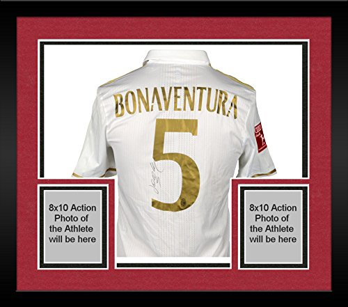 Framed Giacomo Bonaventura AC Milan Autographed Game-Used International Champions Cup White #5 Jersey vs Fc Bayern Mnchen on July 27, 2016 - Fanatics Authentic Certified