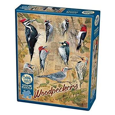 Cobblehill 85007 500 Pc Notable Woodpeckers Puzzle Vari