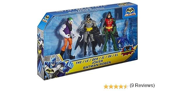 Batman Ilimitado Robin y el Joker Figura (Pack de 3): Amazon.es ...