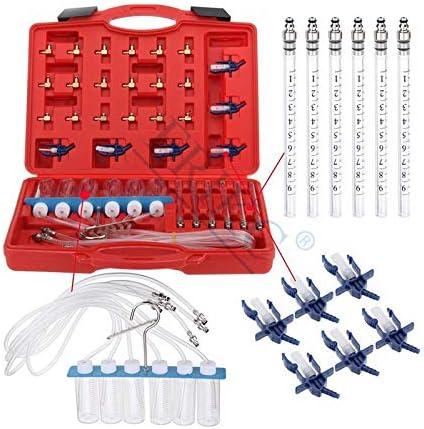 ERIKC Diesel Injector Flow Meter Test Kit Common Rail Adaptor Fuel Tester Set Automotive Tools Nozzle Tester Fuel Return Flow Metering