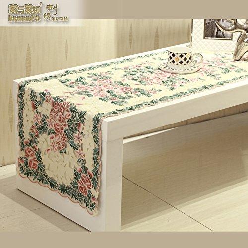 ZQ STORE European-style stylish table runner,Fabric cloth em