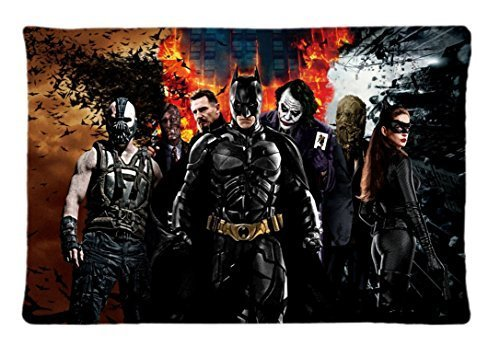 Surful Gift Pillow Case ~ Batman Movies The Joker Catwoman Two Face Bane Batman The Dark Knight Rises Raaeus Al Ghul Scarecrow ~ Image (One Side) Custom 30x20 Inches (The Dark Knight Scarecrow)