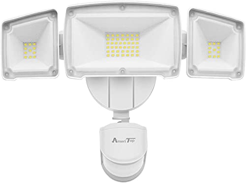 Motion Sensor Lights Outdoor, AmeriTop 2-in-1 Ultra Bright 3500LM 35W LED Security Flood Lights with Motion Sensor Mode Dusk to Dawn Sensor Mode ETL Certified, IP65 Waterproof