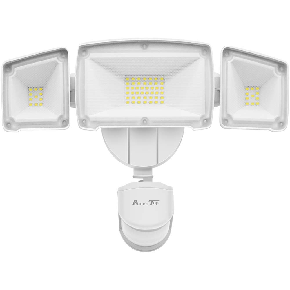 Motion Sensor Lights Outdoor, AmeriTop 39W Ultra Bright 3500LM LED Security Flood Lights High Sensitivity Wide Angle Illumination 2 Control Dials Mode ETL Certified IP65 Waterproof Outdoor Light