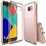Ringke [Fusion] Compatible with Galaxy A9 2016 Case Crystal Clear PC Back TPU Bumper [Drop Protection, Shock Absorption Technology][Attached Dust Cap] for Samsung Galaxy A9 2016 - Rose Gold