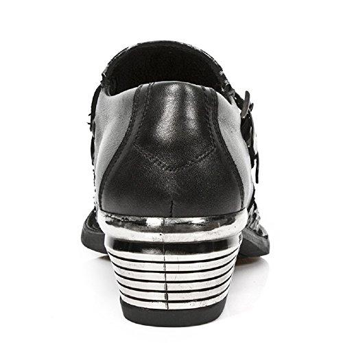 Negro Para De s10 Zapatos Rock New Hombre Lujo 7934pt Cuero M wxfvUqUFcH
